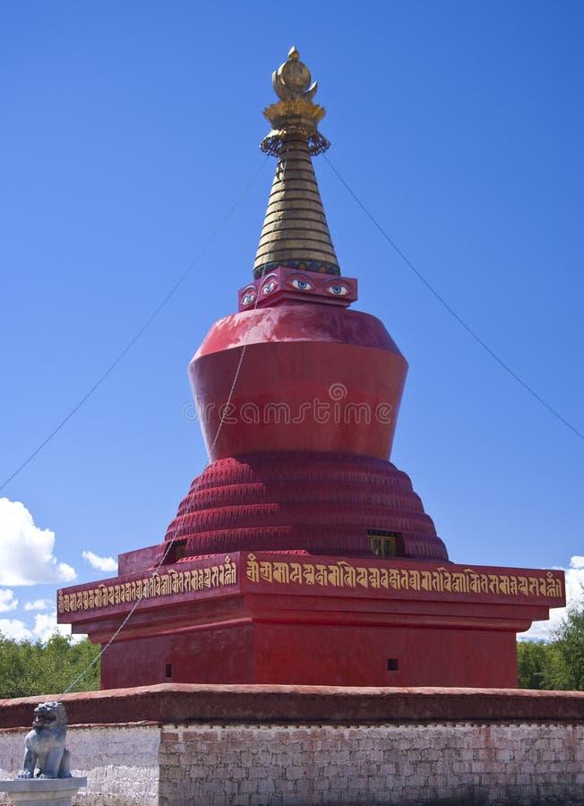 Boeddhistische Stupa in Tibet stock afbeeldingen