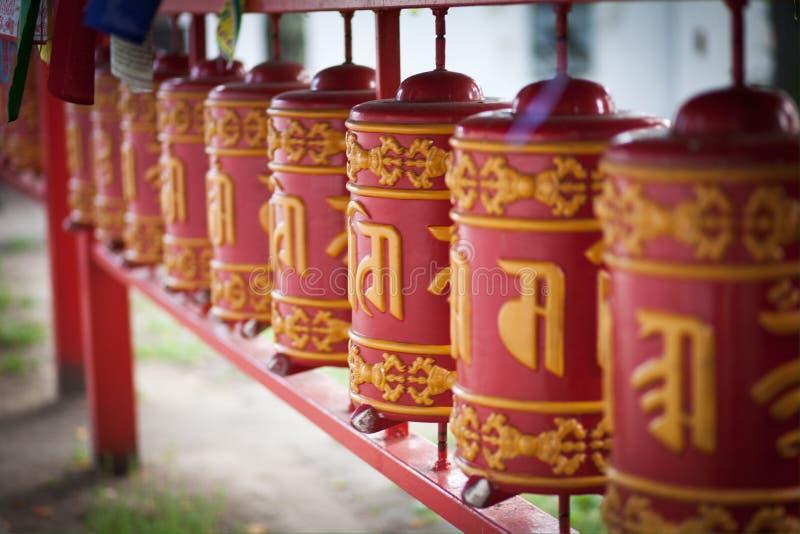 In boeddhistische tempel royalty-vrije stock afbeelding