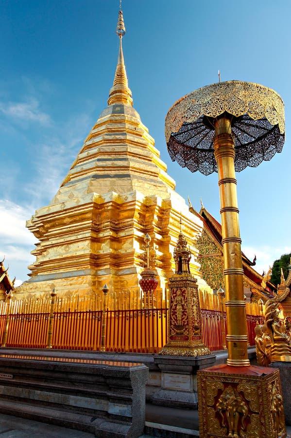 Boeddhistische tempel in Bangkok stock fotografie