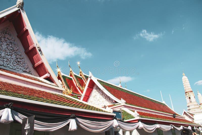 Boeddhistische Tempel in Bangkok, Thailand royalty-vrije stock afbeelding