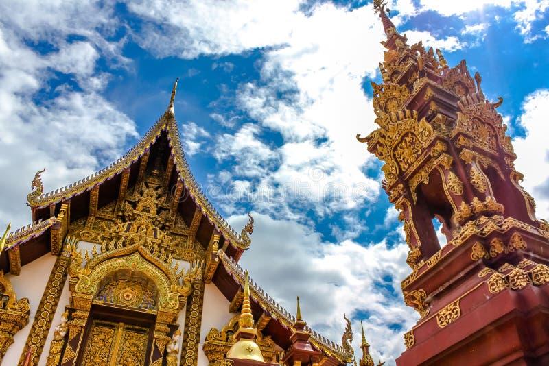 Boeddhistische tempel Chiang Mai stock afbeelding