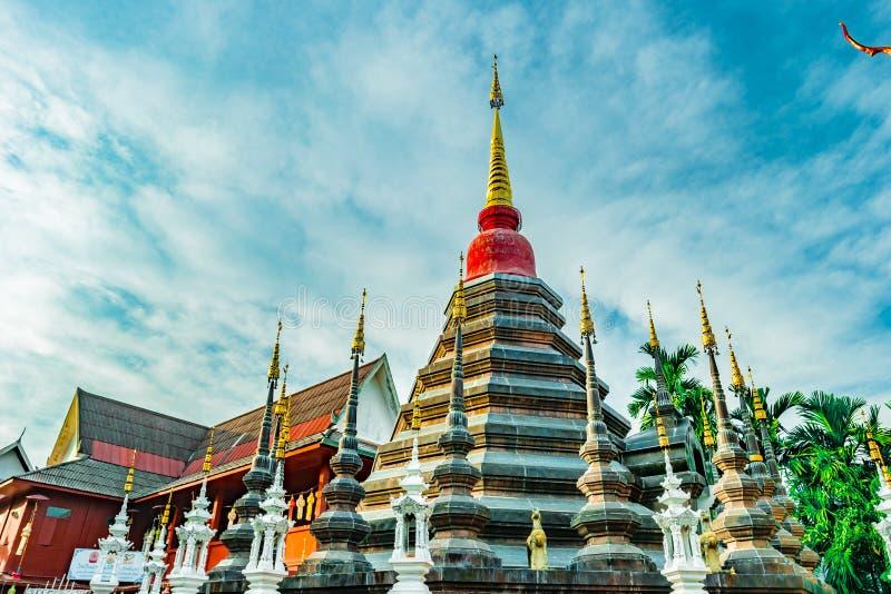 Boeddhistische tempel Chiang Mai, Thailand stock afbeeldingen