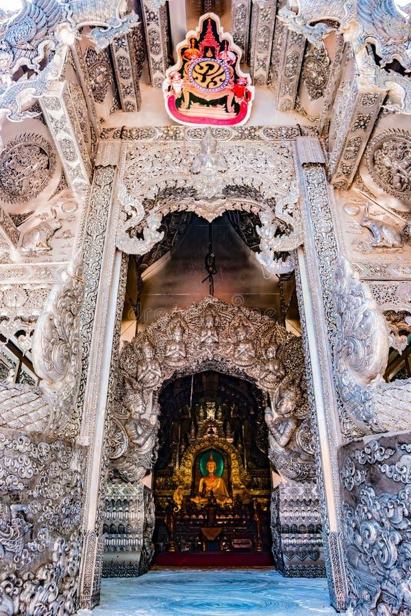 Boeddhistische tempel Chiang Mai, Thailand stock foto's
