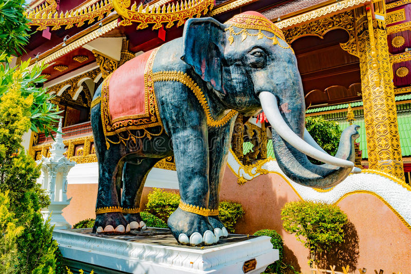 Boeddhistische tempel Chiang Mai, Thailand royalty-vrije stock foto