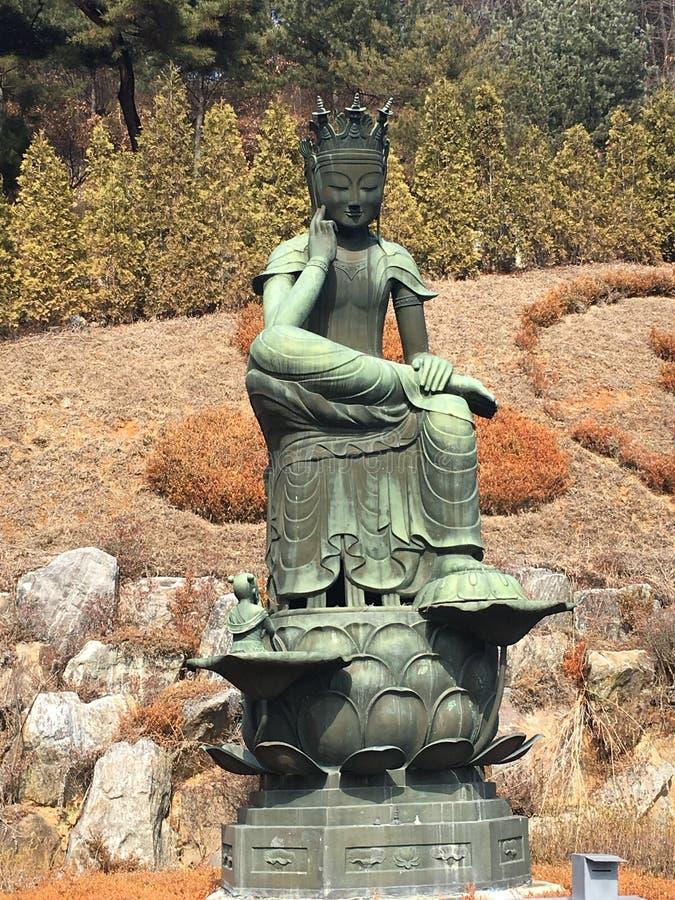 Boeddhistische tempel in Korea stock foto's