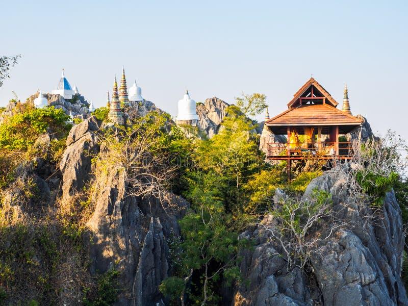 Boeddhistische Tempel in Lampang-Provincie stock foto's