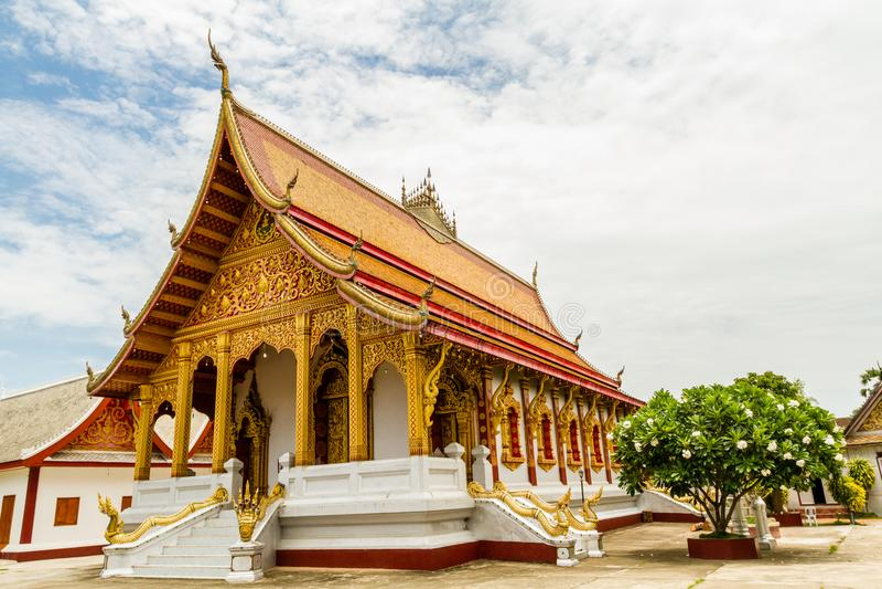 Boeddhistische tempel in Luang Prabang, Laos stock afbeeldingen