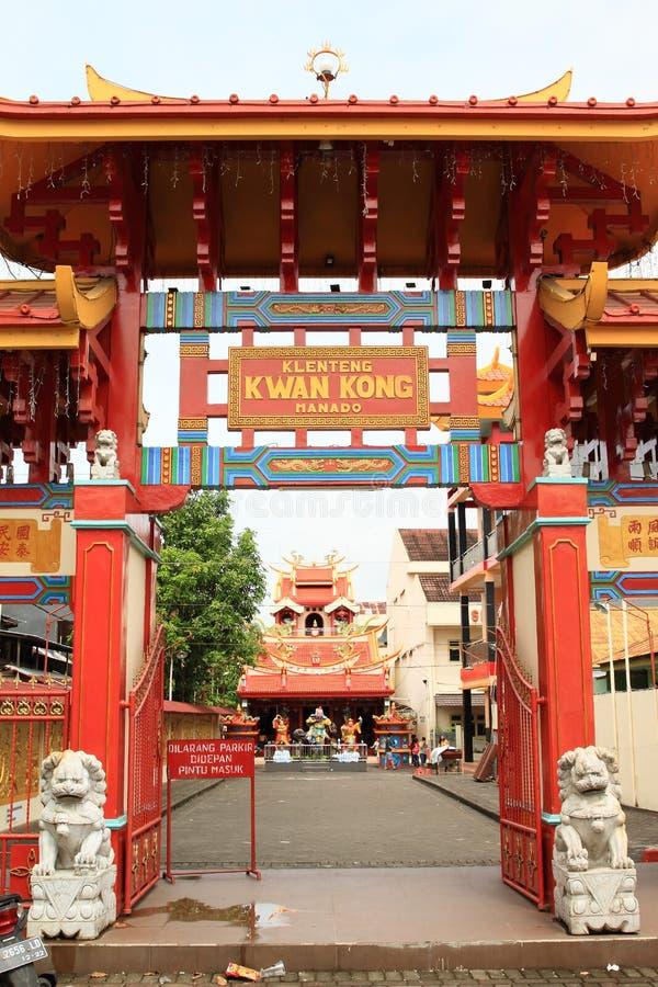 Boeddhistische tempel in Manado stock fotografie