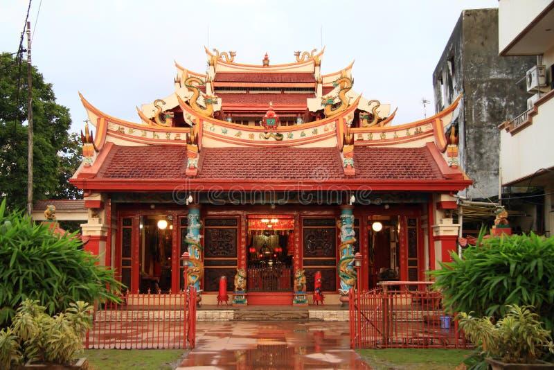 Boeddhistische tempel in Manado stock foto's