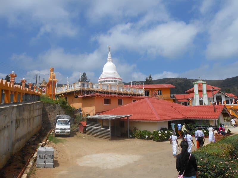 Boeddhistische tempel in Sri Lanka royalty-vrije stock foto