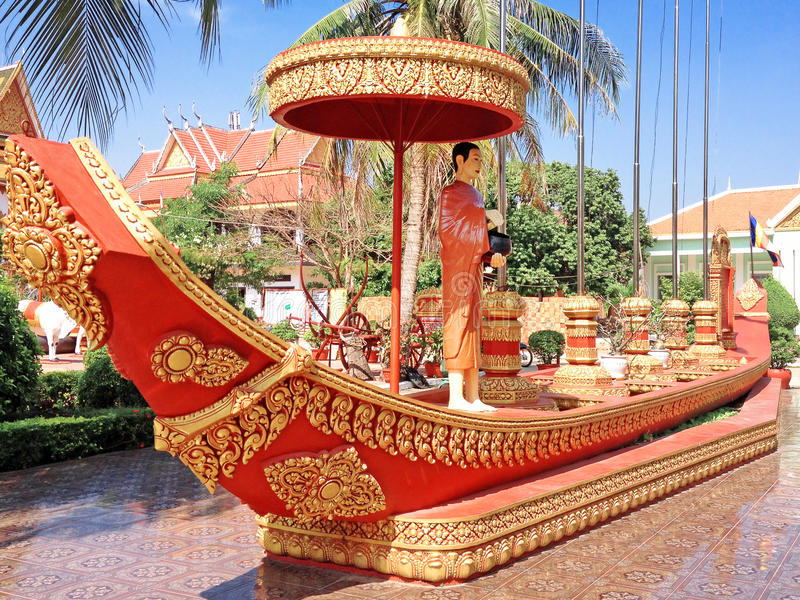 Boeddhistische Tempel Wat Preah Prom Rath royalty-vrije stock foto's