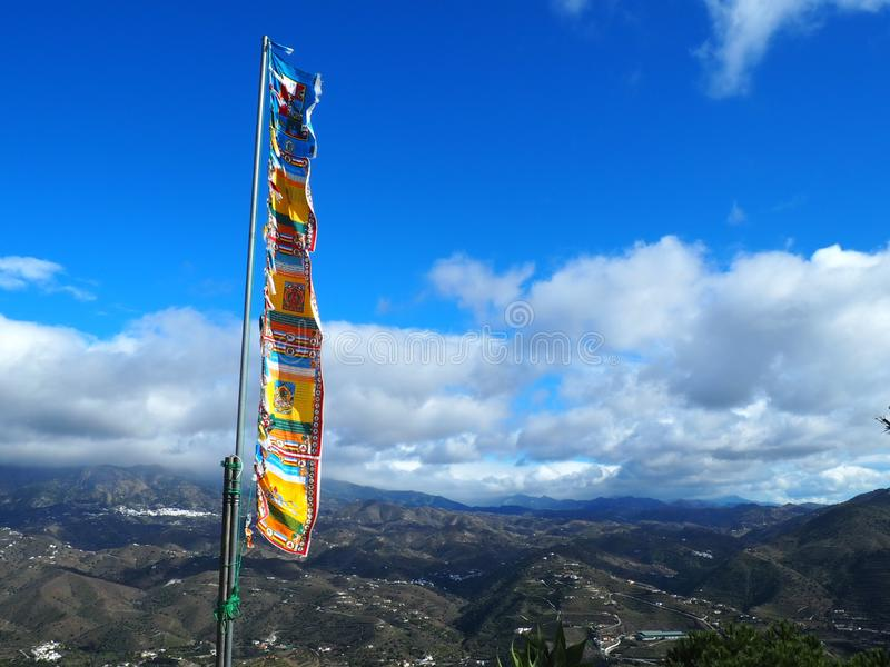 Boeddhistische vlag stock foto