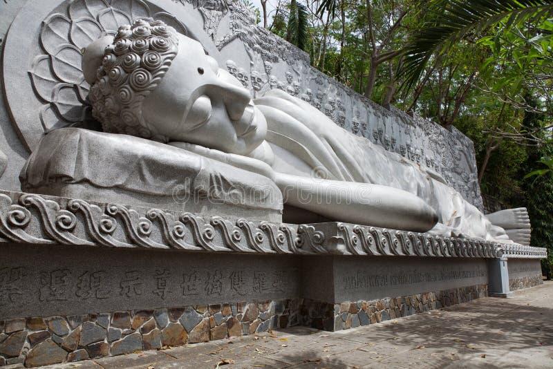 Boedha bij de Lange Zoonspagode in Nha Trang stock foto's