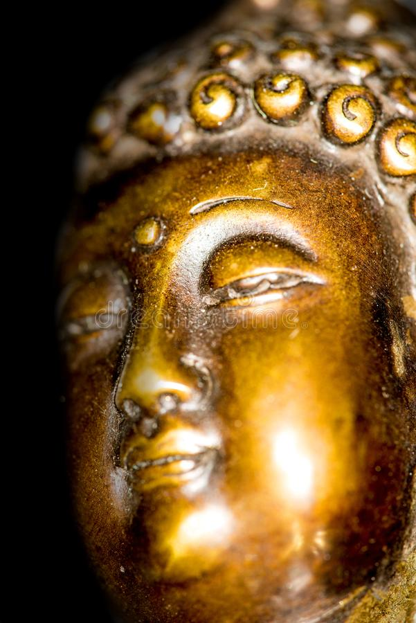 Boedha in diepe meditatie stock afbeelding