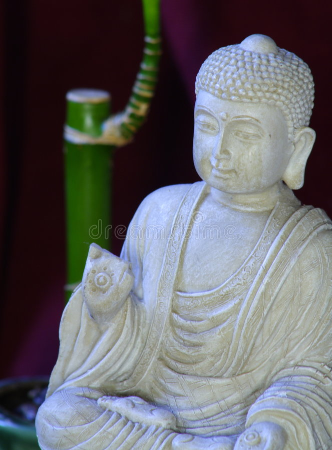 Boedha en Bamboe royalty-vrije stock fotografie