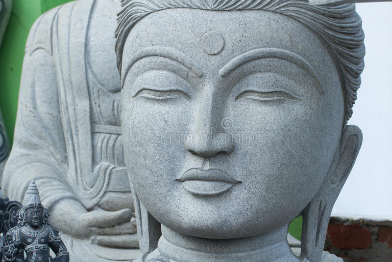 Boedha, Gezicht van Boedha, het standbeeld van Boedha, Hoofd van Boedha royalty-vrije stock foto's
