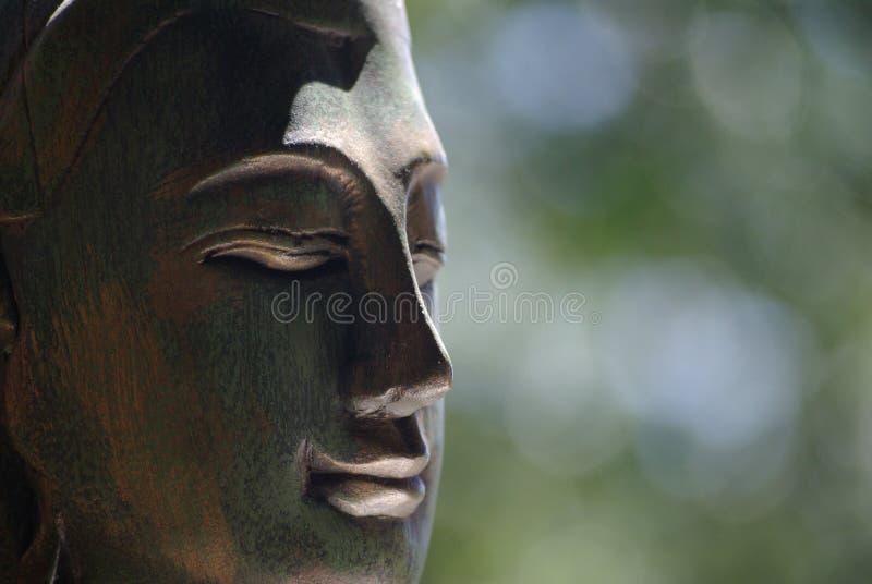 Boedha met zachte achtergrond stock afbeelding