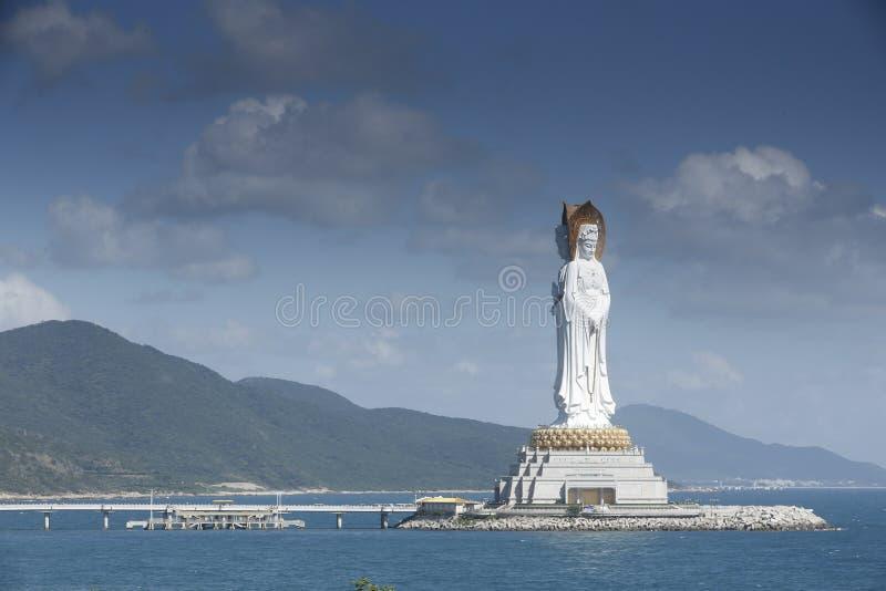 Boedha, Overzees het Zuid- van China, Sanya, Hainan royalty-vrije stock afbeelding