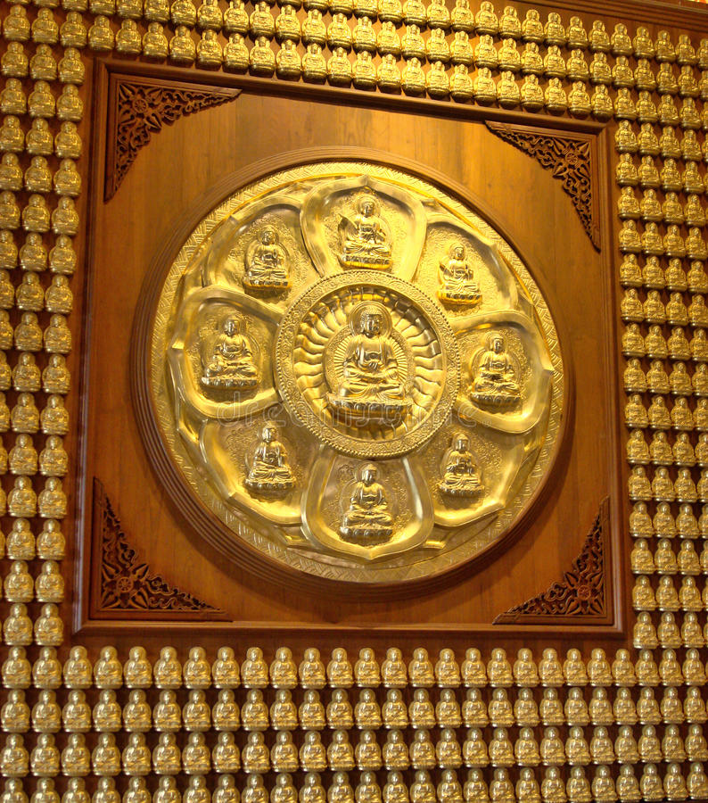 Boedha Scculpture in Dragon Temple Kammalawat royalty-vrije stock foto's