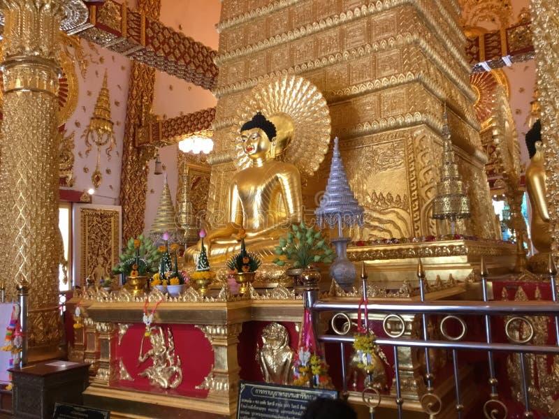 Boedha van Wat Phra That Ning Bua royalty-vrije stock afbeeldingen