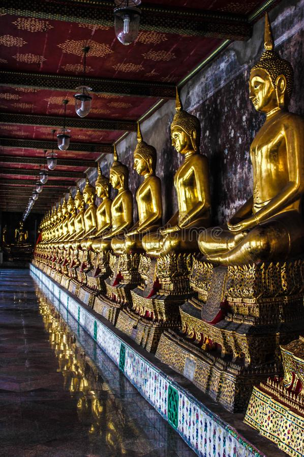 Boedha in Wat Phra Kaew royalty-vrije stock afbeelding