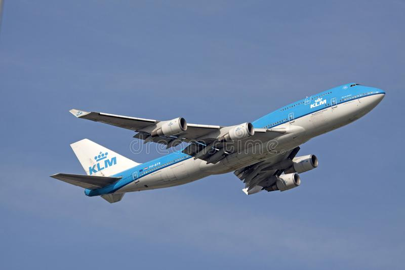 Boeing 747 στη δράση στοκ εικόνες