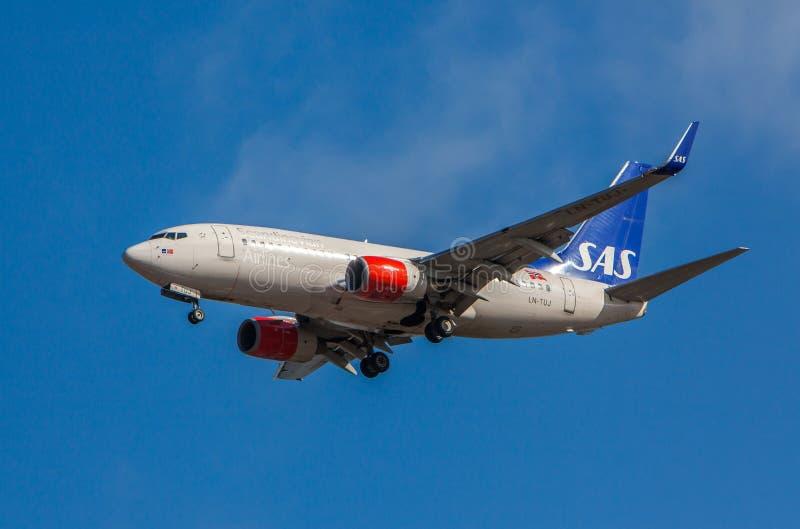 Boeing 737-705 royaltyfri bild