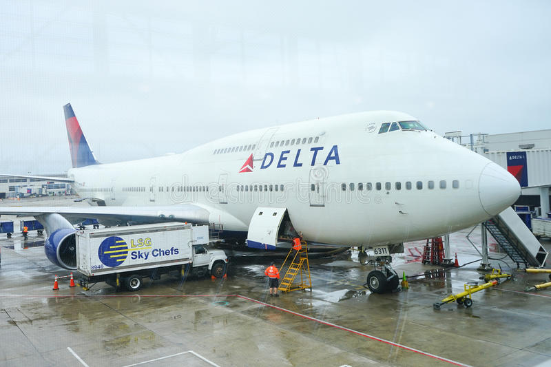 Boeing 747 stock fotografie