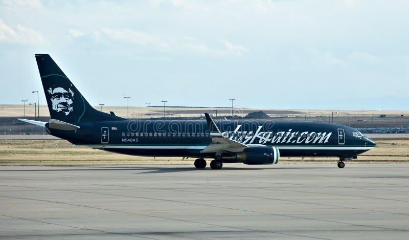 Boeing 737 de Lucht van Alaska stock foto's