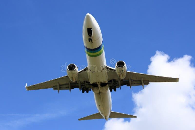 Boeing 737 em finais imagem de stock