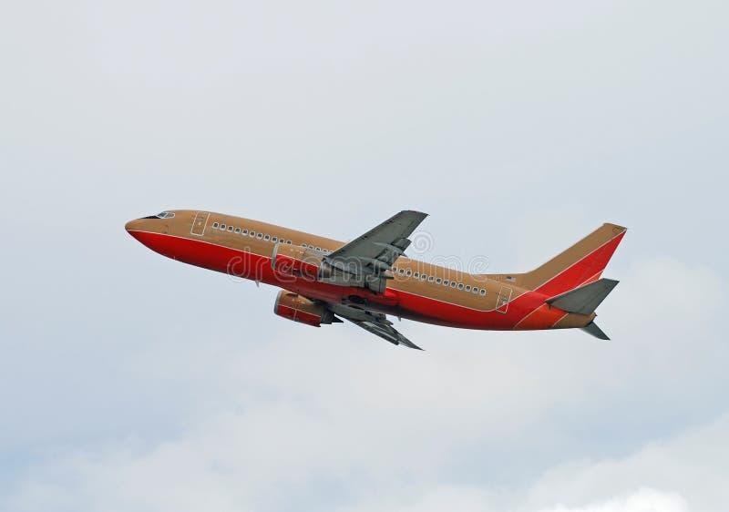 Boeing 737 passagiersstraal royalty-vrije stock fotografie