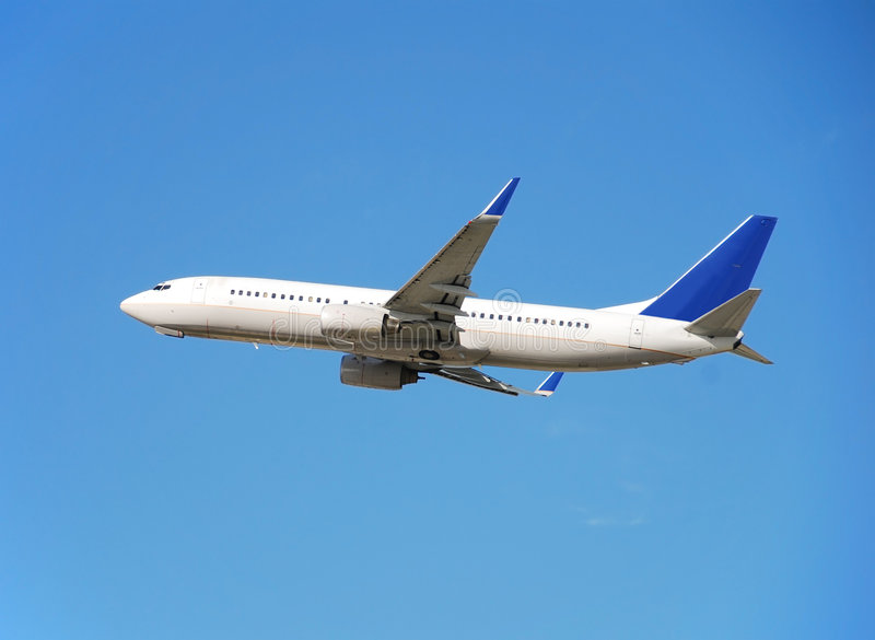 Boeing 737 passenger jet royalty free stock image