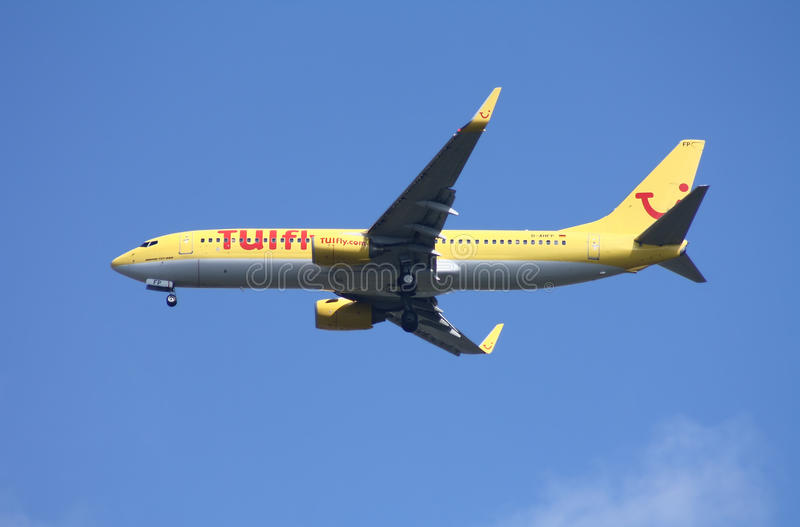 Boeing 737 TuiFly Airline stock image