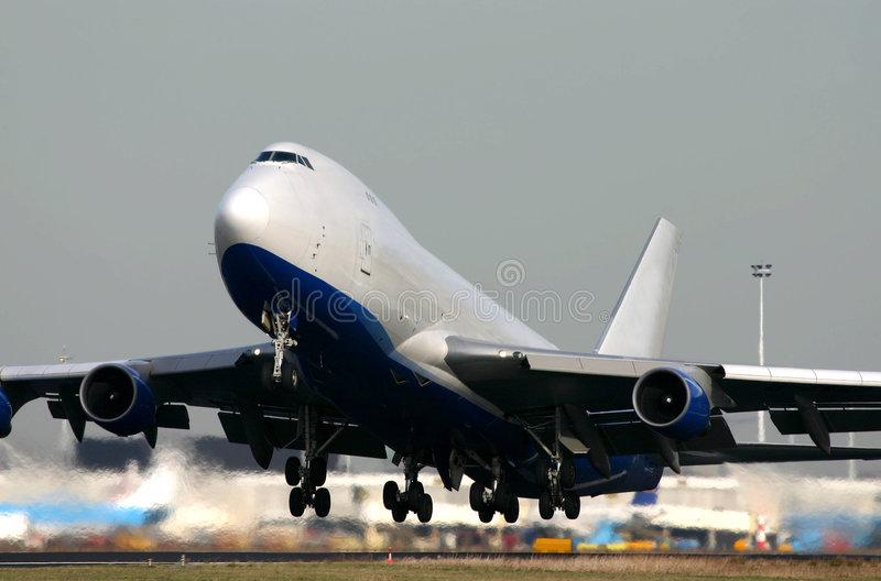 Boeing 747-400F imagens de stock royalty free