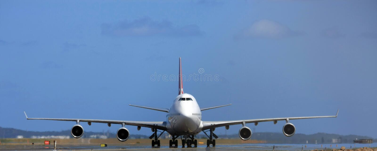 Boeing 747 jumbo jet royalty free stock photo