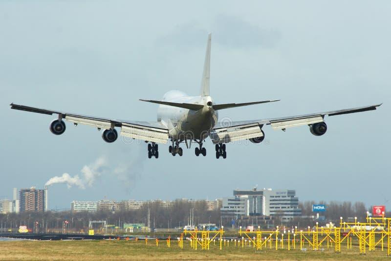 Boeing 747 wyładunku obraz stock