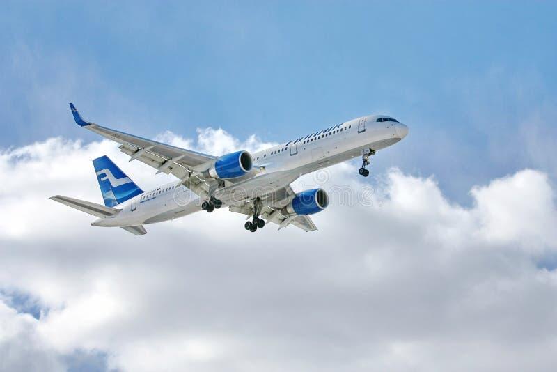 Boeing 757 de Finnair photos libres de droits