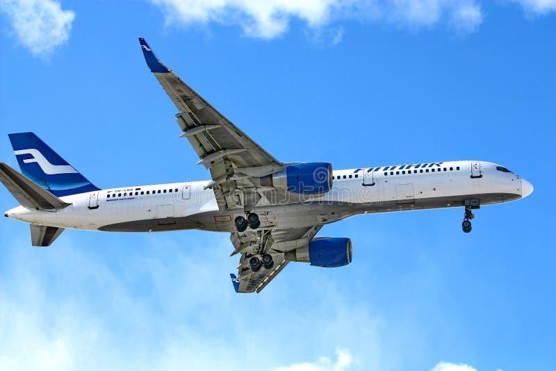 Boeing 757 de Finnair photo libre de droits