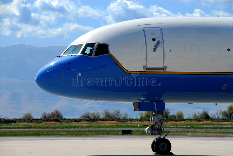 Boeing 757 neus stock fotografie