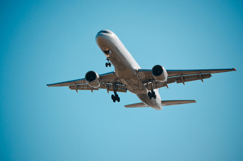 Boeing 767 Overhead royalty free stock image