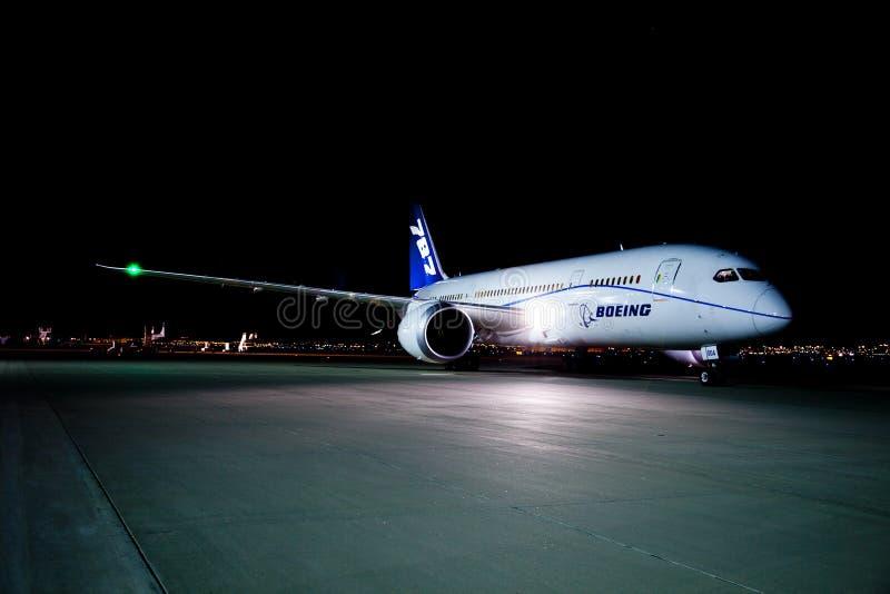 Boeing 787 fotografía de archivo libre de regalías