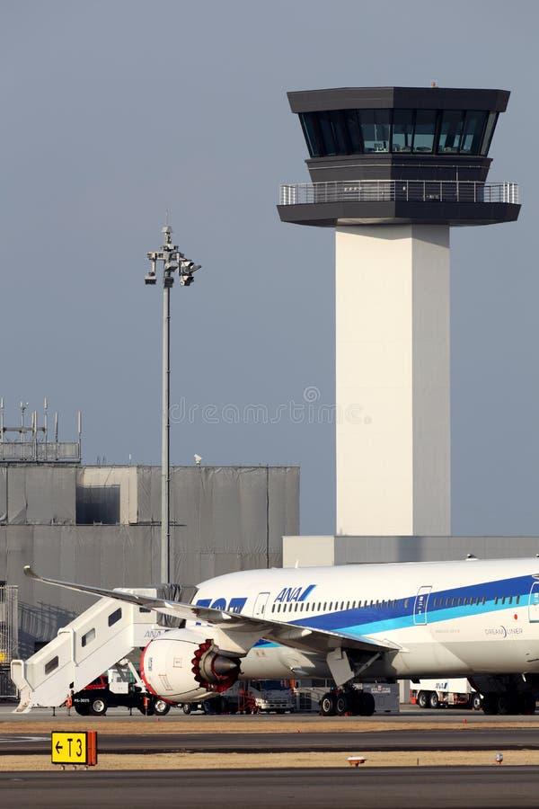 Boeing 787 Aterrizado En Emergencia Imagen editorial