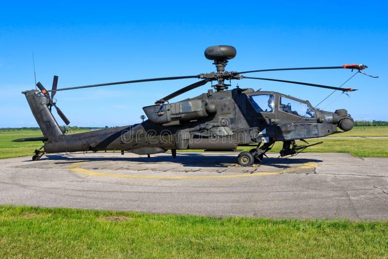 Boeing AH-64D Apache från Förenta staternaflygvapen royaltyfria bilder