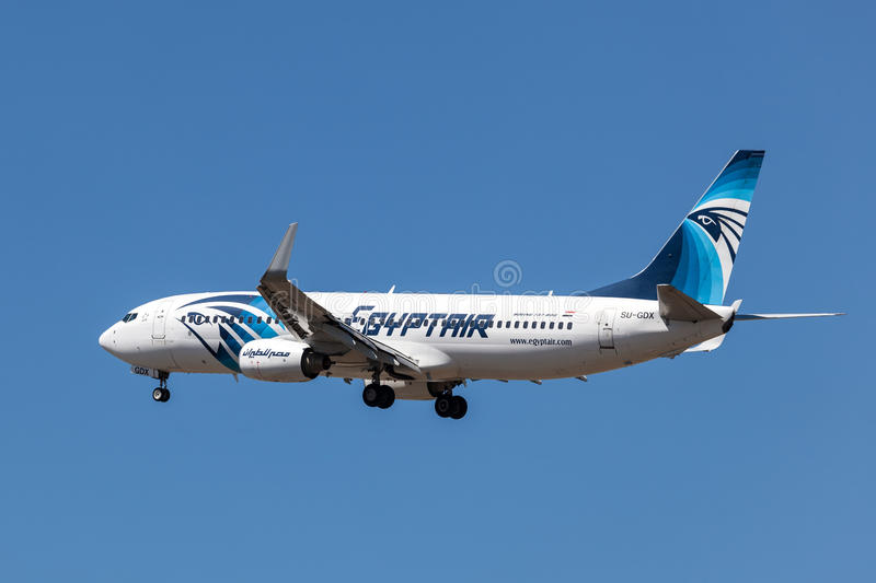 Boeing 737-800 aircraft of the EgyptAir stock image