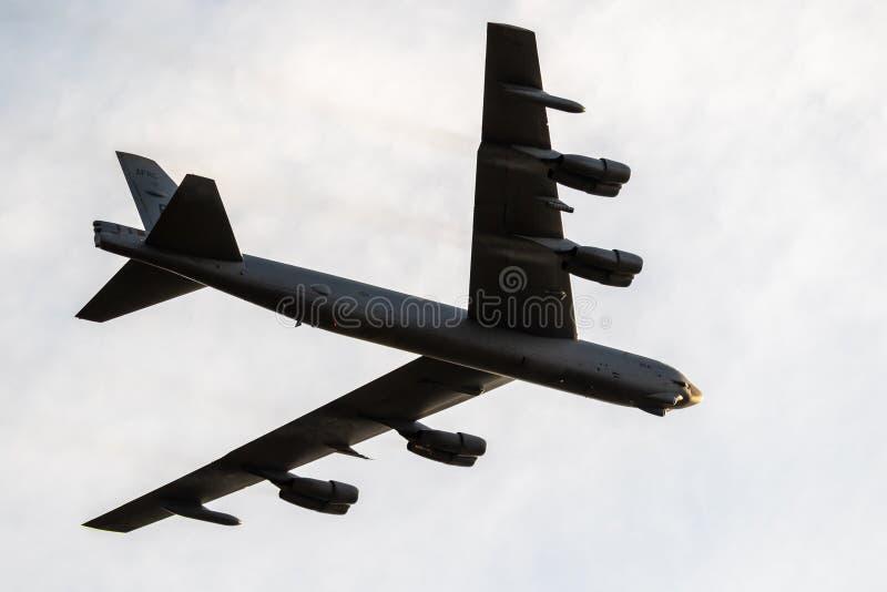 Boeing B-52 Aereo da bombardiere di Stratofortezza fotografie stock libere da diritti