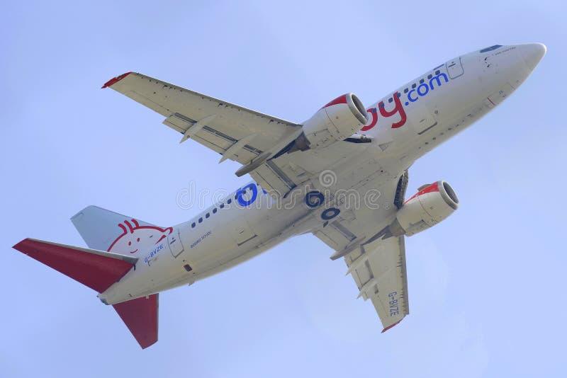 Boeing B737 royalty-vrije stock afbeeldingen