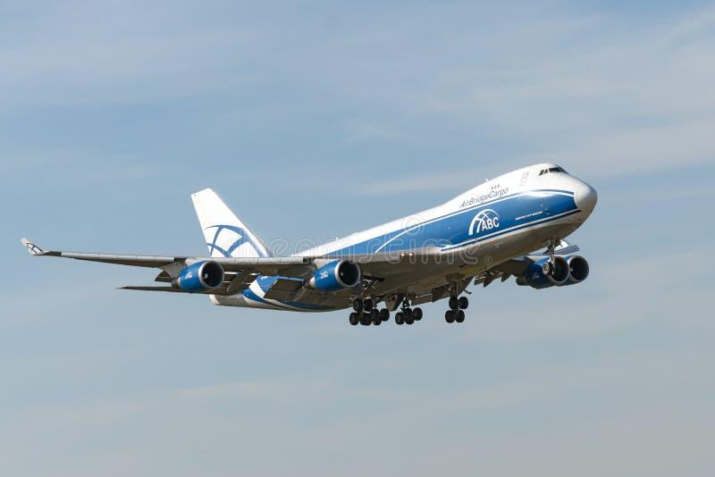 Boeing B747 dżetowy samolot zdjęcie royalty free