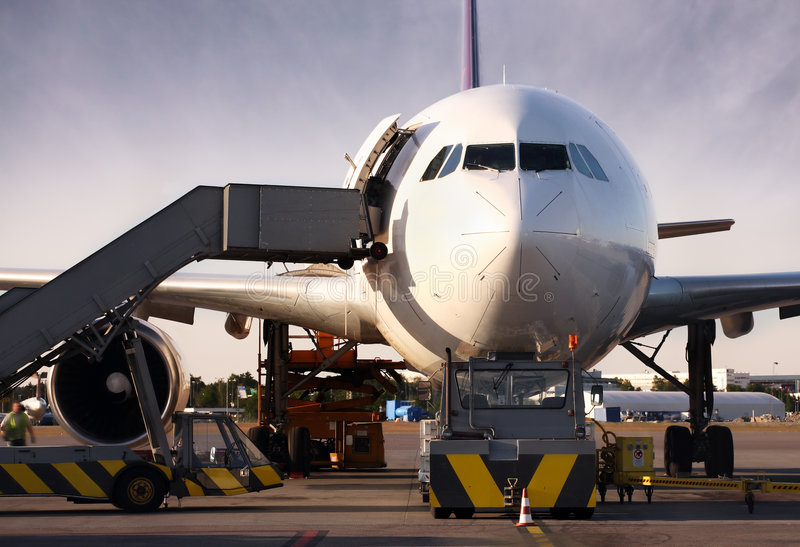 Download Boeing Being Loaded With Cargo Stock Image - Image: 2558781