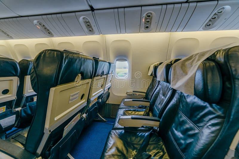 Boeing 767 bij de luchthaven royalty-vrije stock afbeeldingen