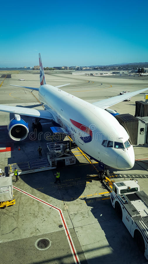 Boeing 777 British Airways image libre de droits